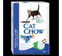 Cat Chow Feline 3 in 1 Формула с тройным действием 1.5 кг..