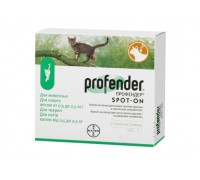 Bayer Profender Spot-On (Профендер) капли для котят и кошек весом от 0..