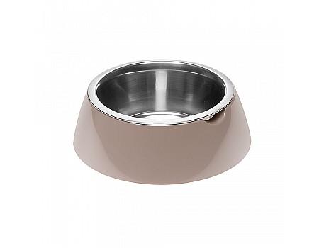 Ferpiast  JOLIE L DOVE GREY BOWL  Металлическая миска для собак и кошек в комплекте с пластиковой подставкой, Ø 17,1 x 5,5 cm - 0,5 L