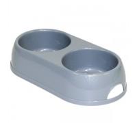 Moderna МОДЕРНА ЭКО двойная миска для собак и кошек, пластик, 2х570 мл..