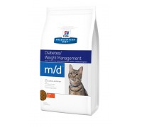 Hills PD Feline M/D- для кошек с сахарным диабетом или избыточным весо..
