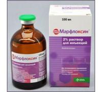 Марфлоксин 10% антибактериальный инъекционный 100мл (марбофлоксацин) К..