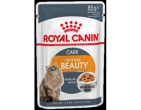 Royal Canin Intense Beauty In Jelly  для поддержания красоты шерсти  взрослых кошек  0,085 кг