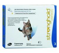 Стронгхолд капли для котов  2.5- 7.5кг 1 пипетка..
