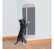 Угловая когтеточка для кошек TRIXIE, 32х60 см, светло-серый..