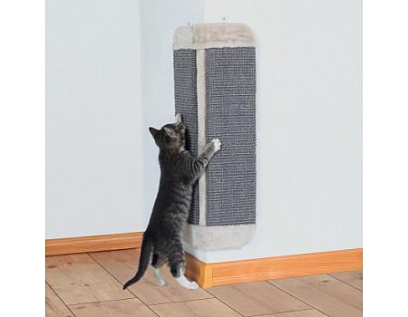 Угловая когтеточка для кошек TRIXIE, 32х60 см, светло-серый