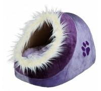 Лежак-пещера для кошки TRIXIE- Minou,  35 x 26 x 41 см. ,   фиолетовый..