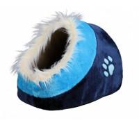 Лежак-пещера для кошки TRIXIE- Minou,  35 x 26 x 41 см. ,   темно-сини..